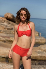 'bandeau bikini high waist short' 'bikini taille haute' 'Bandeau Schalen und hohe Taille Bikini'